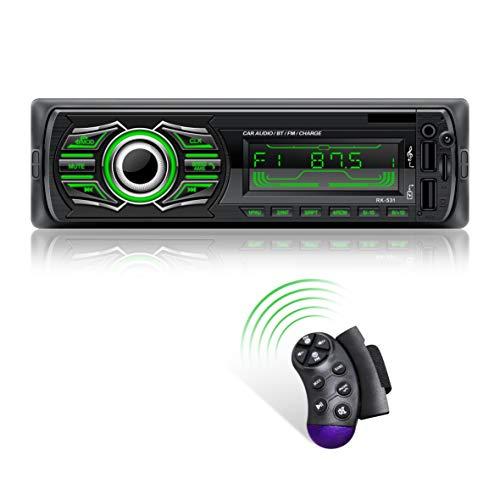 X-REAKO Radio Coche Autoradio Bluetooth Apoyo de Reproductor MP3 Llamadas Manos...