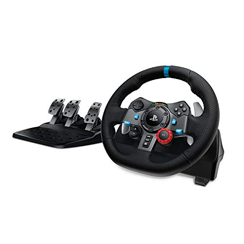 Logitech G29 Driving Force Volante de Carreras y Pedales, Force Feedback, Aluminio...