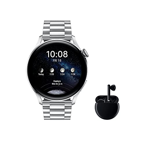 HUAWEI Watch 3 Elite + Freebuds 3 Negro - Smartwatch 4G con pantalla táctil 1.43''...