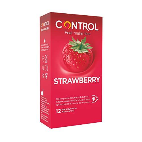Control Preservativos Strawberry 12 Uds 12 Unidades 50 g
