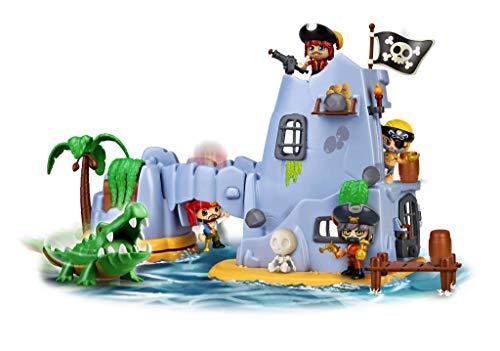 Pinypon Action- Isla Pirata del Capitán Caimán con 2 Figuras, niñas a Partir de 4...
