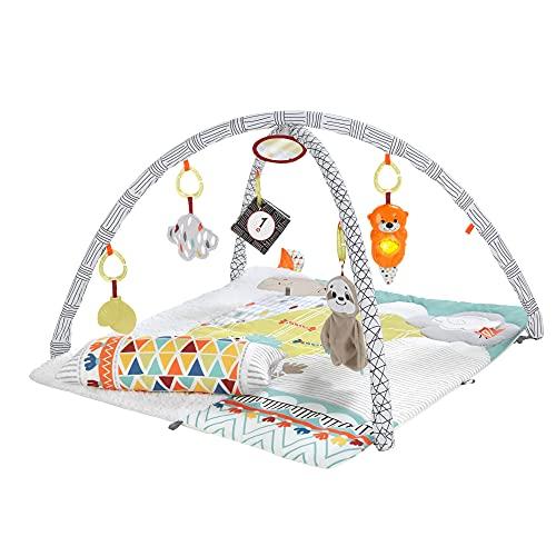 Fisher-Price Gimnasio sensorial llama, manta de juego para bebés recién nacidos...