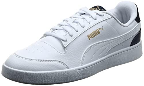 PUMA Shuffle, Zapatillas, Blanco (White White-Peacoat Team Gold), 44 EU