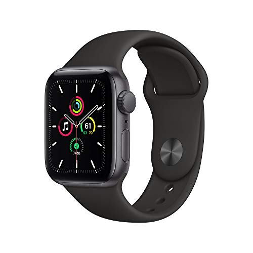 Apple Watch SE (GPS, 40 mm) Caja de aluminio en gris espacial - Correa deportiva...