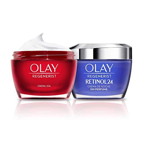 Olay Regenerist Crema Facial De Día y Olay Retinol 24 Crema Hidratante De Noche Con...