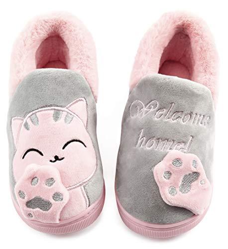 Vunavueya Zapatillas de Estar por Casa Niña Niño Zapatos Pantuflas Invierno Bebé...