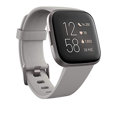 Fitbit Versa 2 - Smartwatch de salud y forma física, Gris piedra/gris niebla, con...