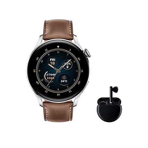HUAWEI Watch 3 Classic + Freebuds 3 Negro - Smartwatch 4G con pantalla táctil 1.43''...