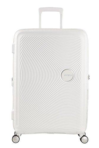American Tourister - Soundbox Spinner Expandible, 67cm, 71,5/81 L - 3,7 KG, Blanco...