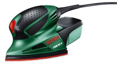 Bosch PSM 80 A - Multilijadora, 3 hojas de lija RedWood, con maletín (80 W, nº...