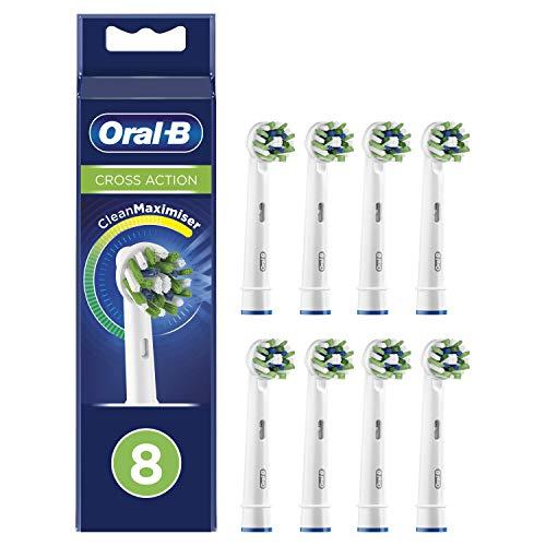 Oral-B CrossAction Cabezales de recambio con tecnología CleanMaximiser, Pack de8