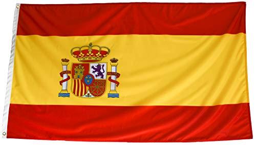 esvendio Bandera de España de Tela Fuerte (2pcs), Bandera Española Grande para...