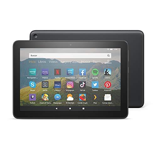 Nuevo tablet Fire HD 8, pantalla HD de 8 pulgadas, 32 GB (Negro) - con ofertas...