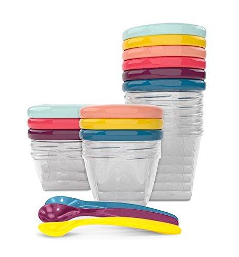 Babymoov Babybols A004310 - Set envases de conservación y cucharas (3 x 120 ml + 3 x...