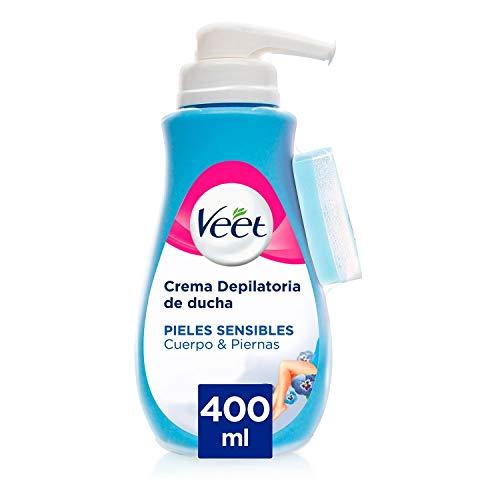 Veet Crema Depilatoria Corporal para Usar Bajo la Ducha para Mujer, con Dosificador,...