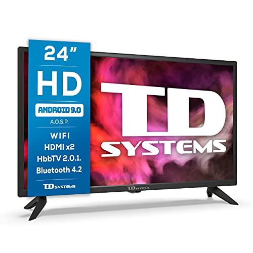 TD Systems K24DLG12HS - Televisores Smart TV 24 Pulgadas HD Android 9.0 y HBBTV, 800...