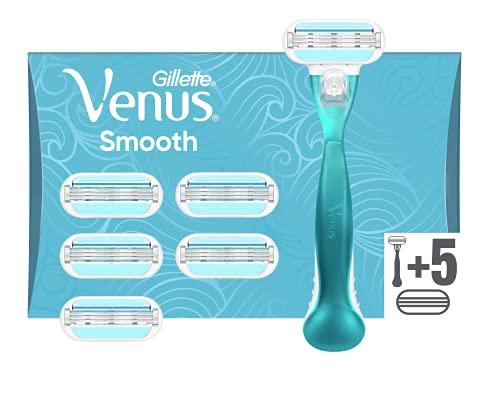 Gillette Venus Smooth Maquinilla de Afeitar Mujer + 6 Cuchillas de Recambio