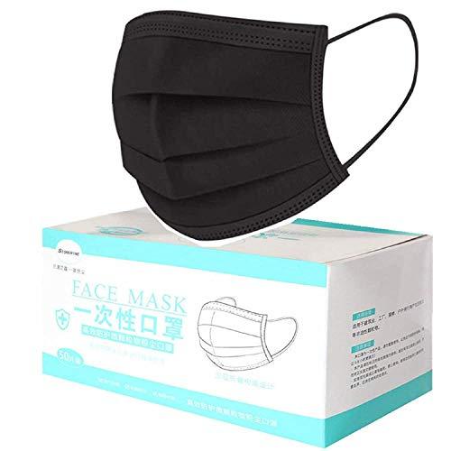 MaNMaNing Protección 3 Capas Transpirables con Elástico para Los Oídos Pack 50...