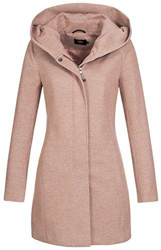 Only onlSEDONA Light Coat OTW Noos Abrigo, Marrón (Mocha Mousse Detail:Melange), 38...