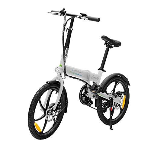SMARTGYRO Ebike Crosscity White - Bicicleta Eléctrica Urbana, Ruedas de 20',...