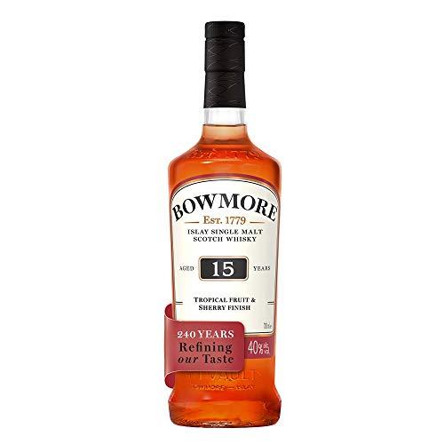 Bowmore 15 Años Darkest Malt Single Malt Whisky Escoces, 43% - 700 ml
