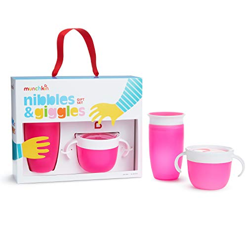 Munchkin Set De Regalo Nibbles & Giggles, Rosa 1 unidad 430 g