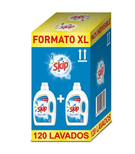 Skip Active Clean Detergente Líquido para Lavadora - Paquete de 2 x 60 lavados -...