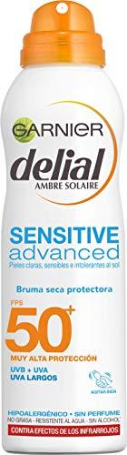 Garnier Delial Sensitive Advanced - Bruma Seca Protector Solar para Pieles Claras,...