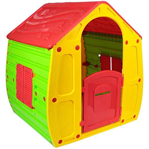 KitGarden - Caseta Infantil Exterior, 102x90x109 cm, Multicolor, Magical House