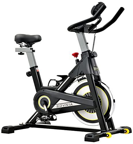 SOVNIA Bicicleta Estatica de Spinning profesional Bici Ejercicio con soporte para...