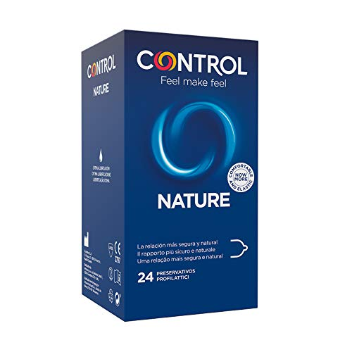 Preservativos Control Nature - Caja de condones, gama placer natural, lubricados,...