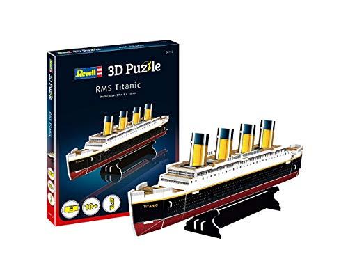 Revell- RMS Titanic 3D Puzzle, Multicolor (00112)