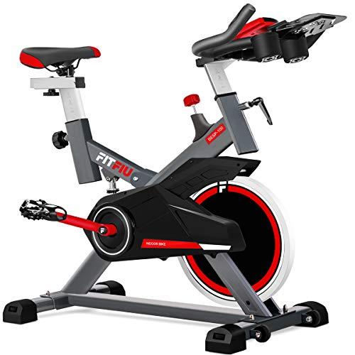 FITFIU Fitness BESP-100 - Bicicleta indoor con disco de inercia de 16kg y resistencia...