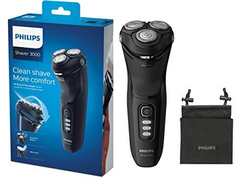 Philips Serie 3000 S3233/52 - Afeitadora eléctrica, cabezales pivotantes y flexibles...