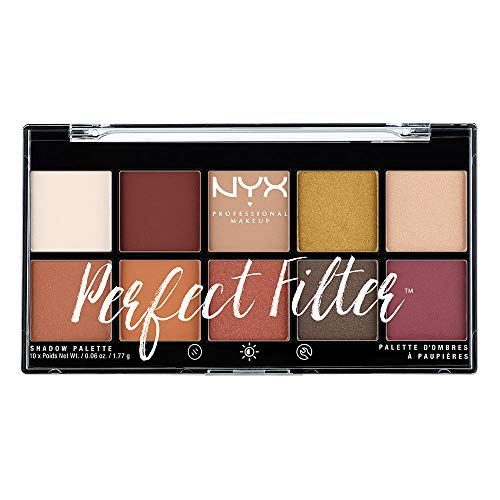 NYX Professional Makeup Paleta de sombras de ojos Perfect Filter Shadow Palette Tono...