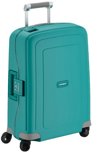 Samsonite S'Cure Spinner S - Maleta de equipaje, S (55 cm - 34 L), Azul (Aqua Blue)