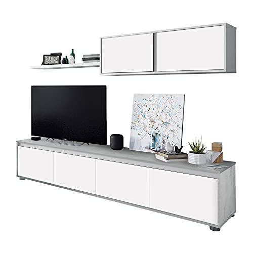 Habitdesign Mueble de Salon Moderno, Modulos de Comedor, Modelo Alida, Acabado en...