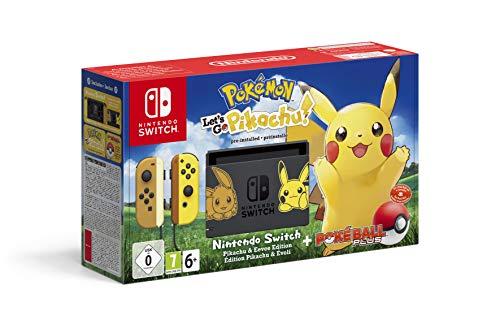Nintendo Switch Pokémon: Consola + Let's Go Pikachu + Poké Ball Plus (Edición...