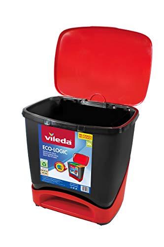 Vileda Eco-Logic - Cubo de basura ecológico especial para reciclaje, múltiples...