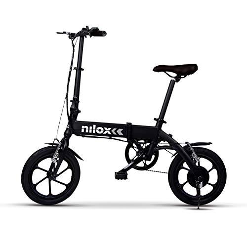Nilox ebike X2 Plus Plegable Ruedas 16'; Adulto, Unisex, Eléctrica, Negro