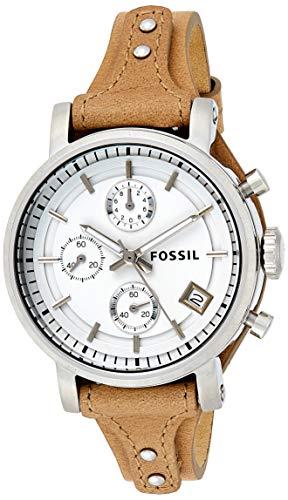 Fossil Reloj Mujer de Análogico con Correa en Cuero ES3625