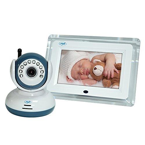 Wireless vídeo Vigilabebés PNI B7000de 7pulgadas de pantalla LCD, visión...