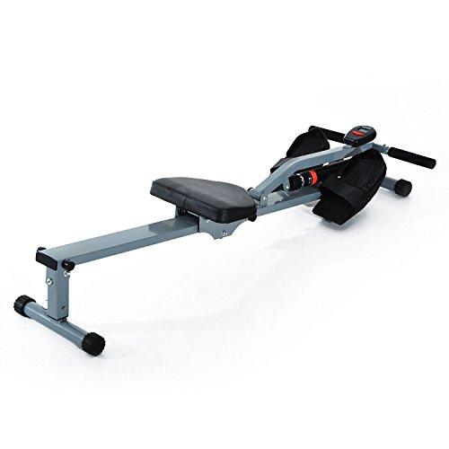 HOMCOM Máquina de Remo Ajustable con Pantalla LCD para Fitness y Ejercicios de...