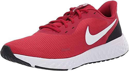 Nike Revolution 5, Zapatillas de Atletismo Hombre, Rojo/Blanco (Gym Red/White/Black...