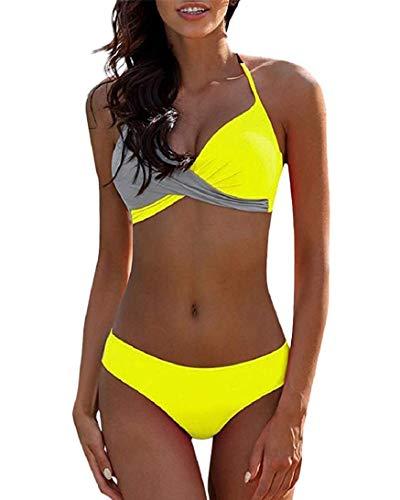 UMIPUBO Conjuntos de Bikinis para Mujer Push Up Halter Bikini Traje de baño Dos...