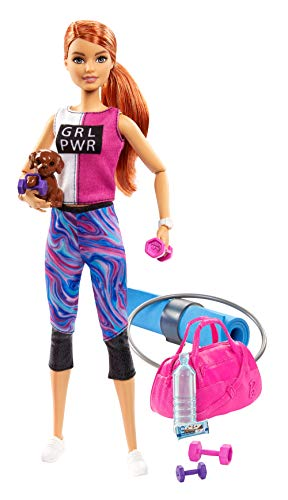 Barbie Bienestar, muñeca con ropa deportiva y accesorios, regalo para niñas y...