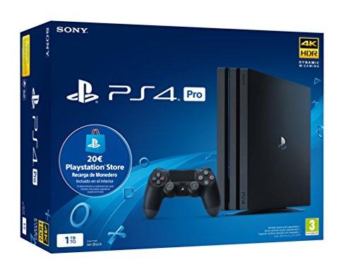 Sony Playstation 4 Pro (PS4) Consola de 1TB + 20 euros Tarjeta Prepago (Edición...