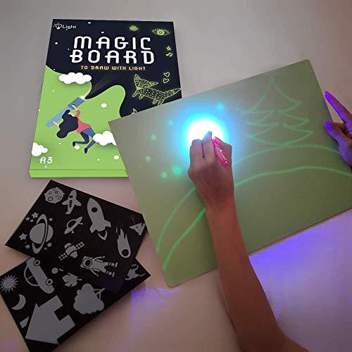 iLight - Nueva Pizarra Infantil Mágica de Dibujo con Luz - Juego de Pintar para...