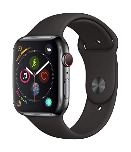 Apple Watch Series 4 (GPS + Cellular) con caja de 44 mm de acero inoxidable en...