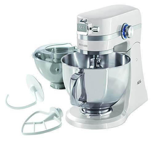 AEG KM4100 - Robot de Cocina UltraMix Amasadora y Batidora con Bol - 1000W, 10...